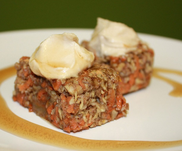 Raw Carrot Coconut Cup Cakes